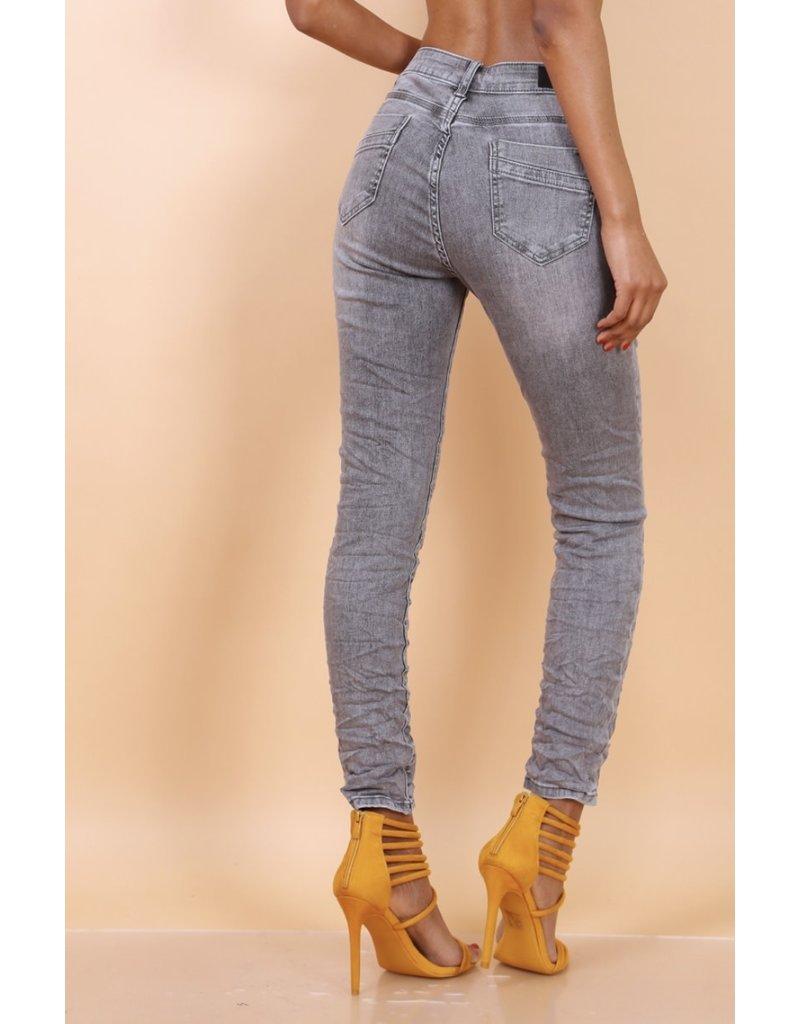 Broek Toxik3 Hoge Tai Grijze jeans