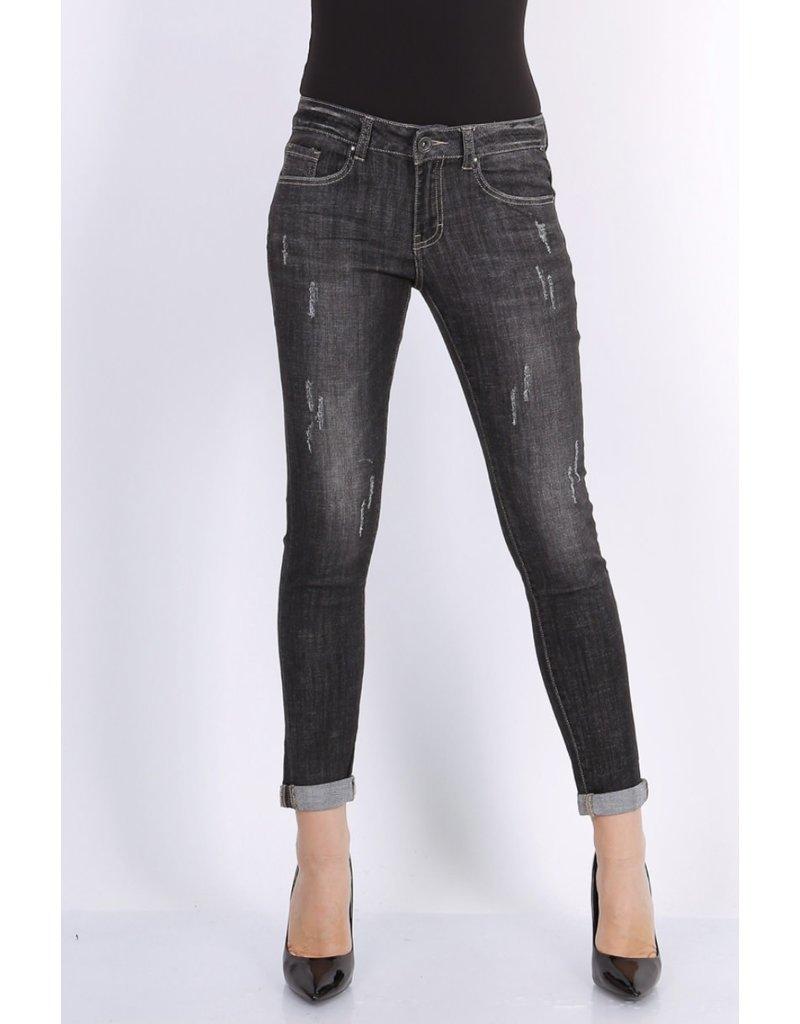 Broek Toxik  Grijs/zwart jeans L713