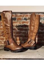 Schoen hoge laarzen plat Camel SC056