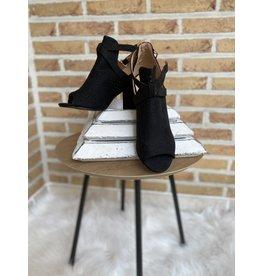 Schoen half open zwart