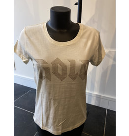 T-Shirt Black and Gold Gold Wit