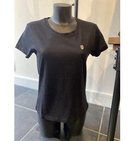 T-Shirt Black and Gold Vourtana Zwart