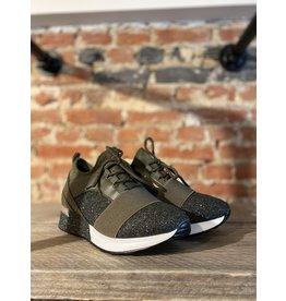 Schoen Basket elastiek/veter KAKI
