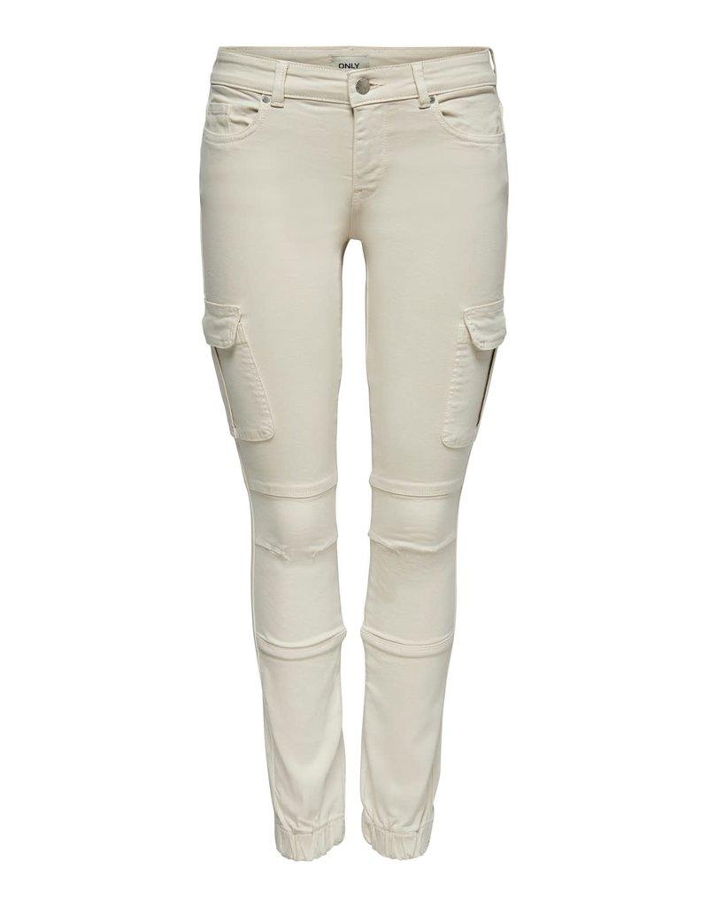 Only Broek Jeans Missouri Only Ecru