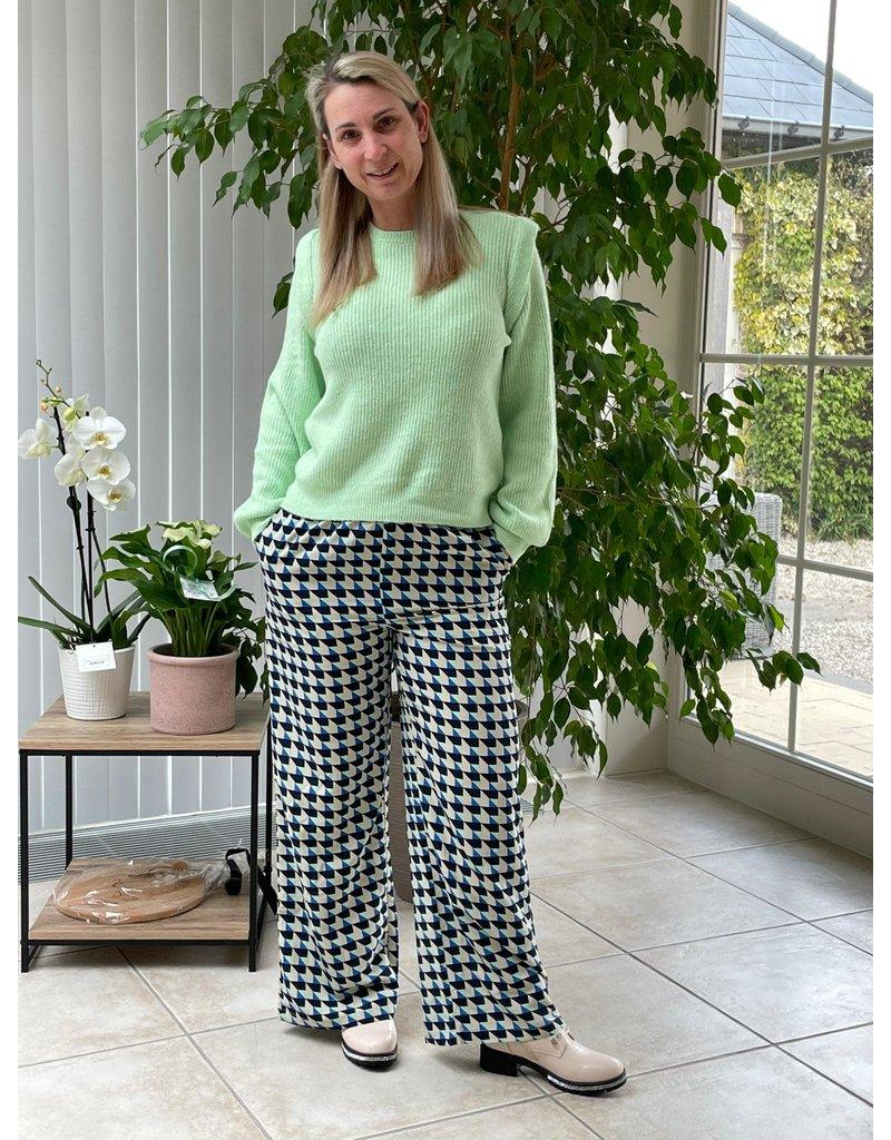 Broek Rina Jacqueline de Yong Blauw/Groen