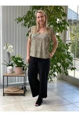 T-Shirt Gitte Jacqueline de Yong Black/Beige