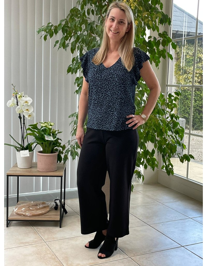 T-Shirt Gitte Jacqueline de Yong Black/Blauw