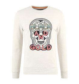 Sweater Craneo Mexico2 Black and Gold Ecru Melange