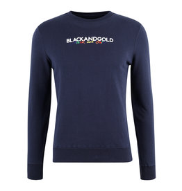Sweater Baleno Black and Gold Navy