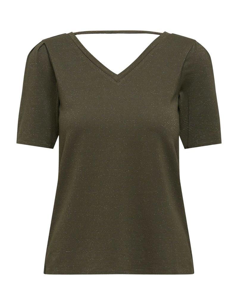 T-Shirt Runa V- hals Jacqueline de Yong Kalamata