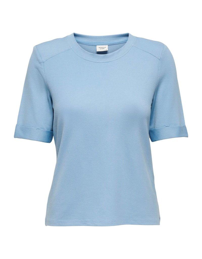 T-Shirt Buena Jacqueline de Yong Blauw