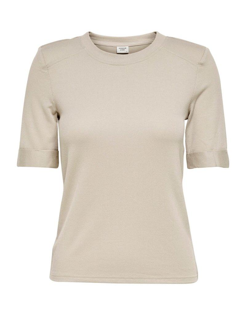 T-Shirt Buena Jacqueline de Yong Cloud Dancer
