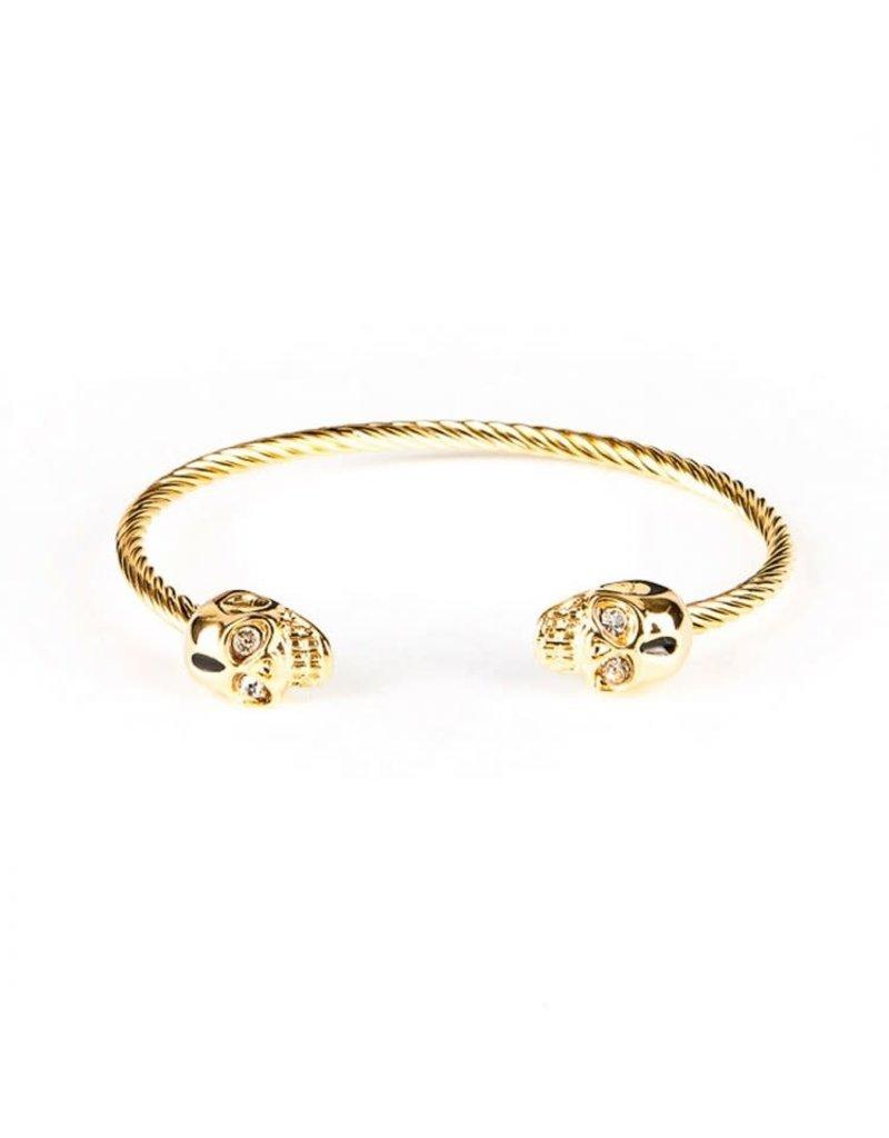 Armbanden Black and Gold Bangle