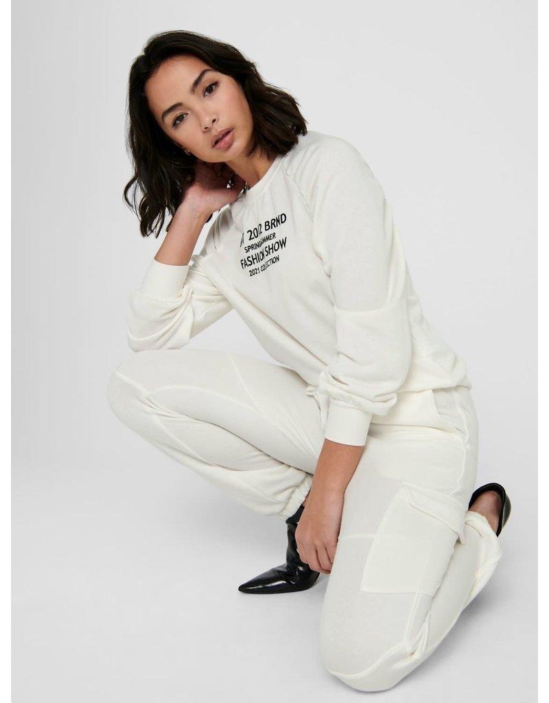 Broek en vest Jogging JDY Fashion Show wit