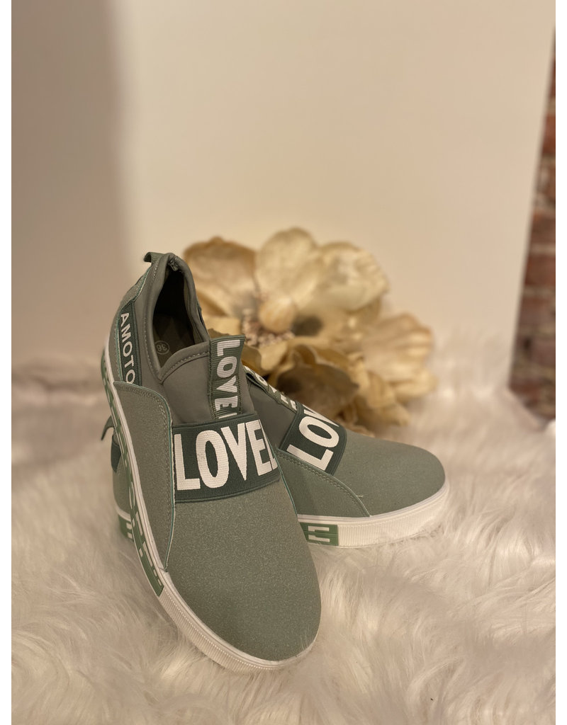Schoen Basket Lovelo Mint groen