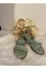 Schoen sandaal Ketting mint