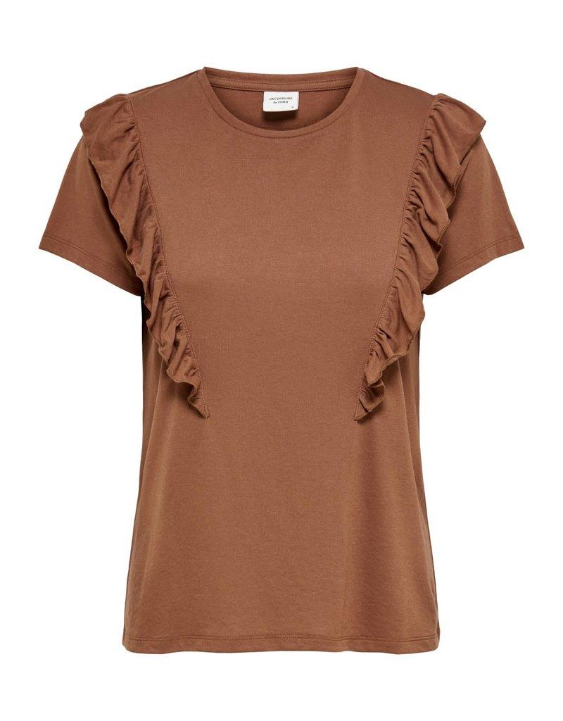 T-Shirt Karen Jacqueline de Yong Rustic Brown