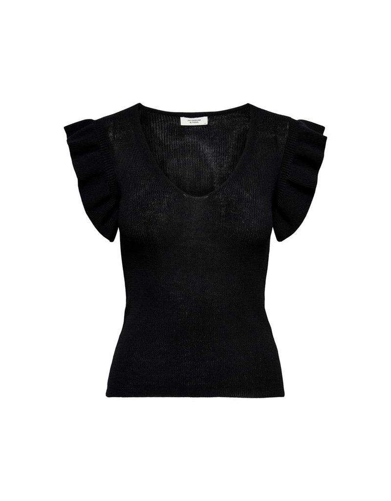 T-Shirt Heda Jacqueline de Young Zwart