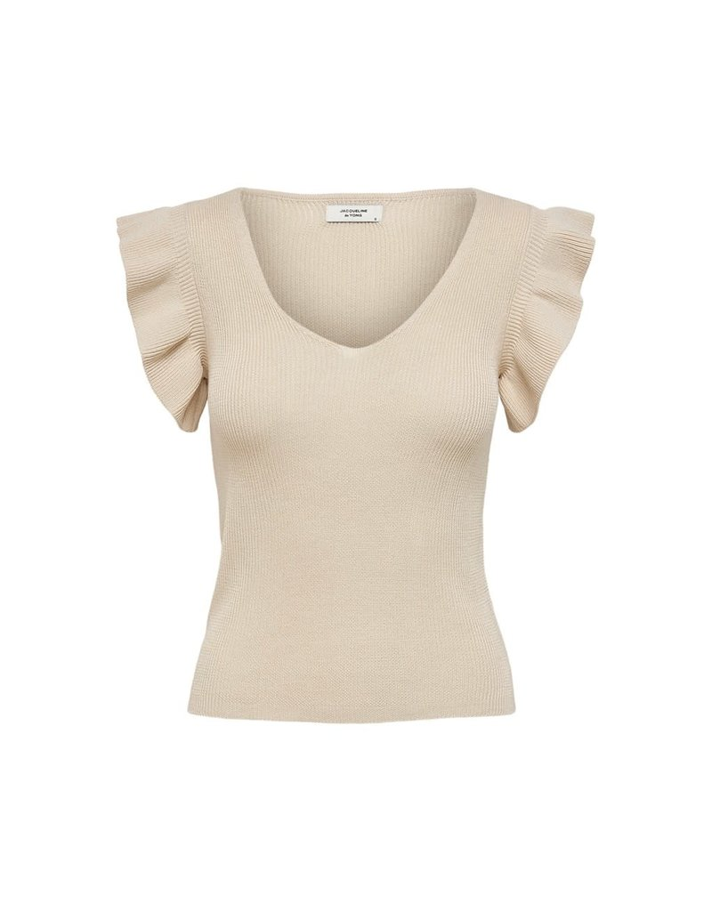 JDY T-Shirt Heda Jacqueline de Young Tapioca