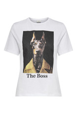 T-Shirt Hyde Jacqueline de Yong Business Dog wit