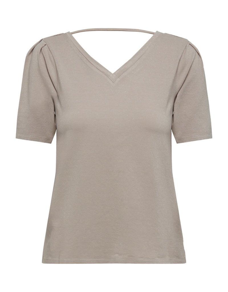 T-Shirt Runa V- hals Jacqueline de Yong Chateau Grey