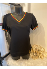 T-shirt Belgie V-Hals Zwart