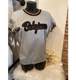 T-shirt Belgium Grijs