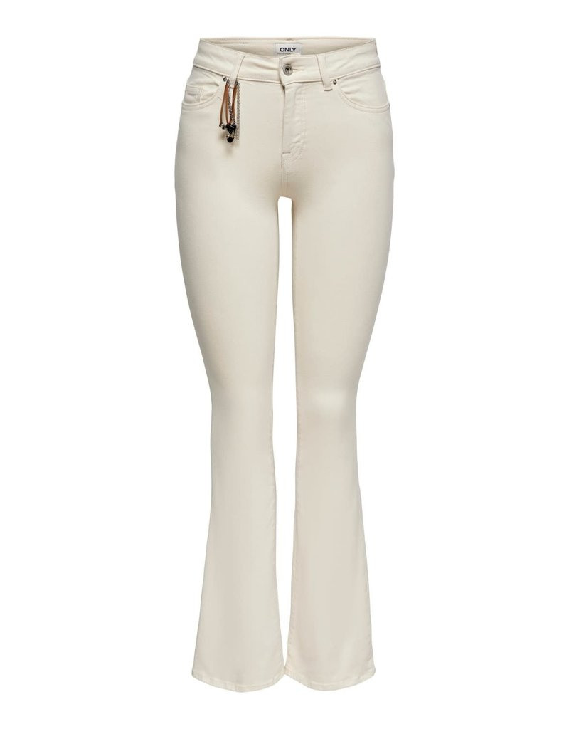 Only Broek Jeans BLUSH Flared  ONLY Ecru
