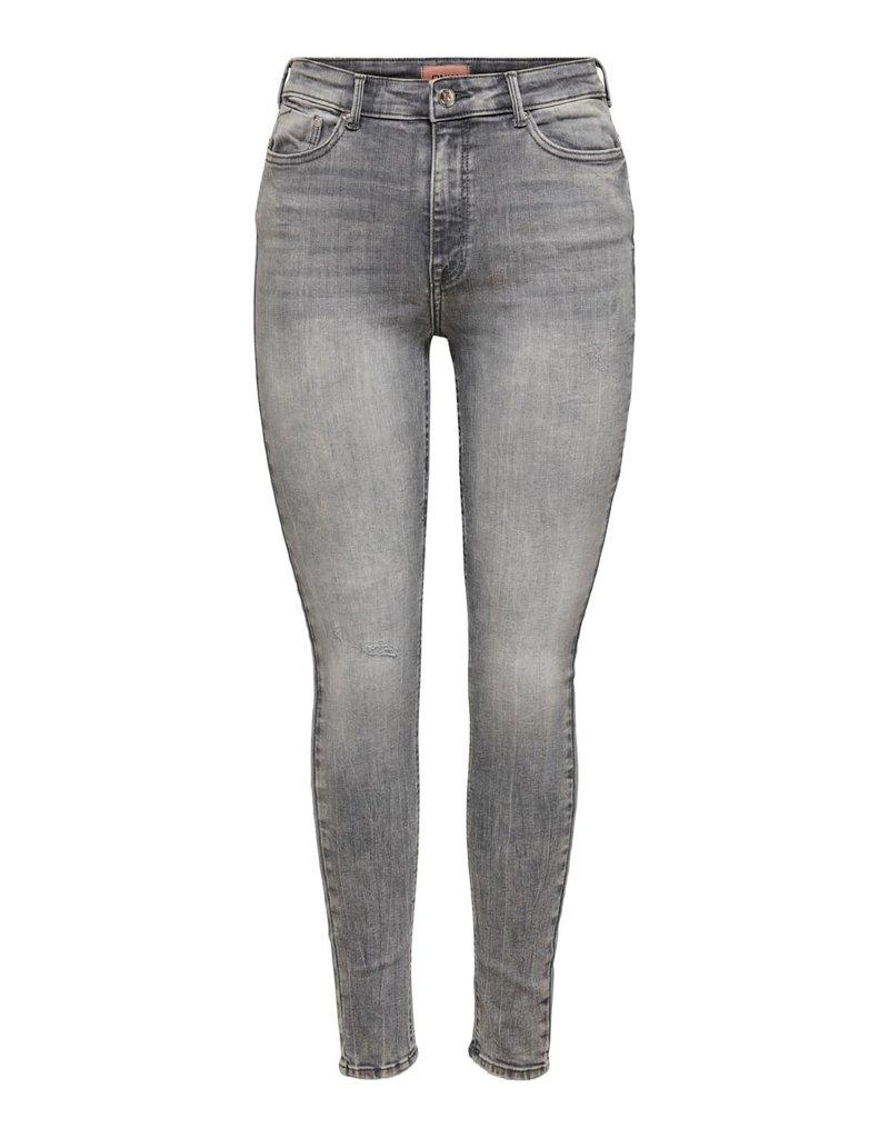 Only Broek Paola High Waste Skinny Medium Grey (NOOS)