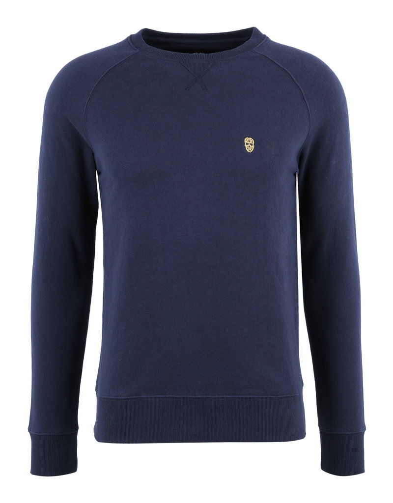 Sweater Hombros Black and Gold Navy