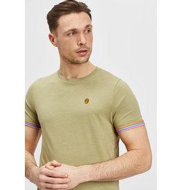 T-Shirt Furtos Black and Gold Kaki Melange XS