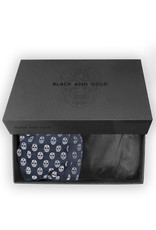Boxer Black and Gold Navy
