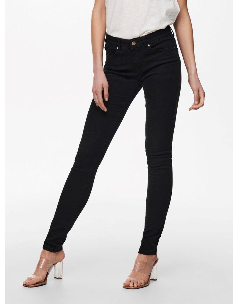 Only Broek jeans Anne Only Zwart