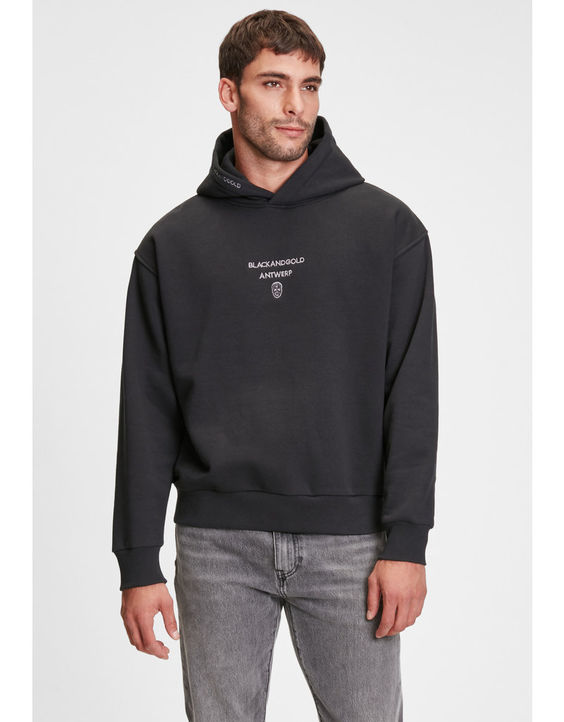 Black and Gold Hoodie TIPAS Black and Gold Zwart