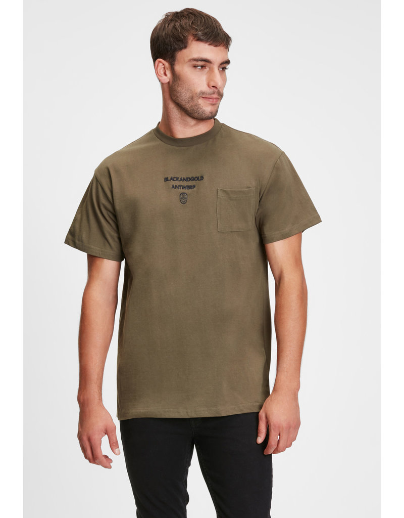 Black and Gold T-Shirt EL MELA Black and Gold