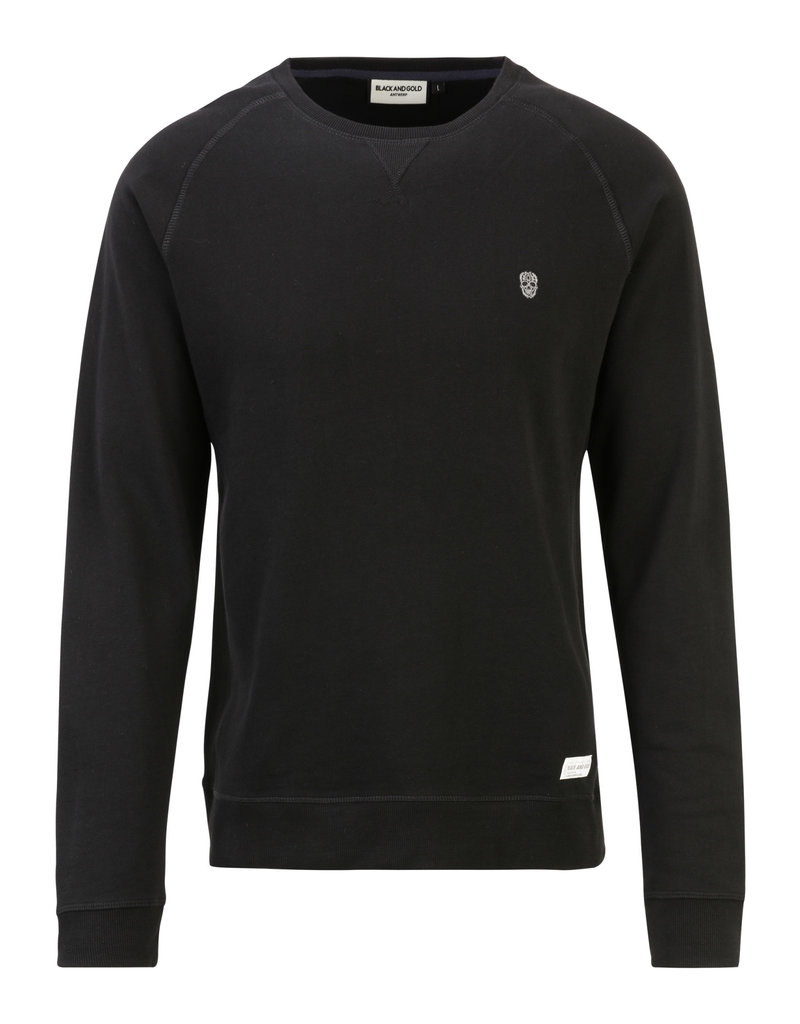Black and Gold Sweater RAGLOS Black and Gold Black