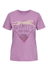 Only T-Shirt LUCY Only Mauve Wanted