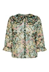 JDY Blouse plissé coll ISABELL   Flowers Jacqueline de Yong