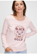 Black and Gold Sweater COLIHUE Black and Gold Lotus
