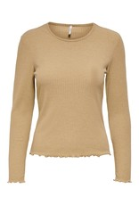 Only T-Shirt NELLA Lange mouw Only Tannin