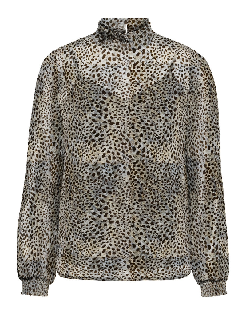Only Blouse STAR Lange mouw Only Taupe Gray