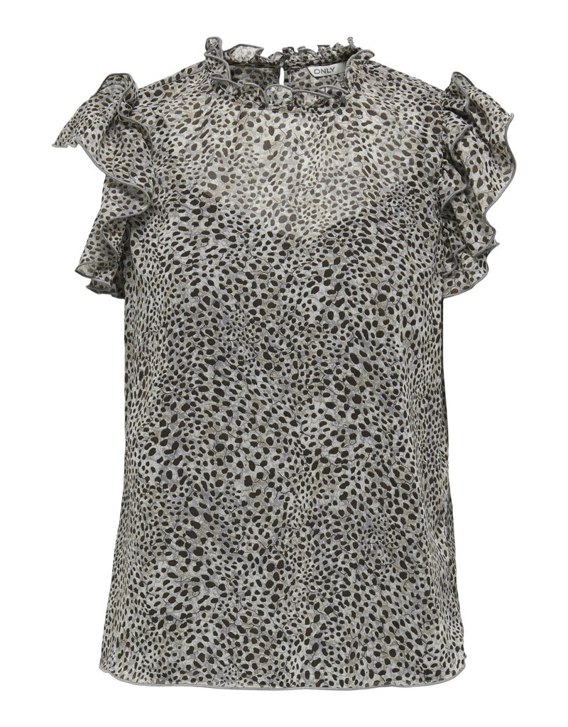 Only Blouse STAR Only Taupe Gray