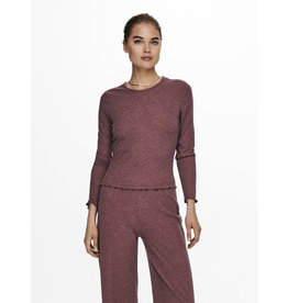 Only T-Shirt NELLA Lange mouw Only Rose Brown