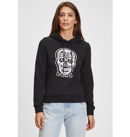 Black and Gold Pull Hoodie COIHUE Black and Gold Zwart