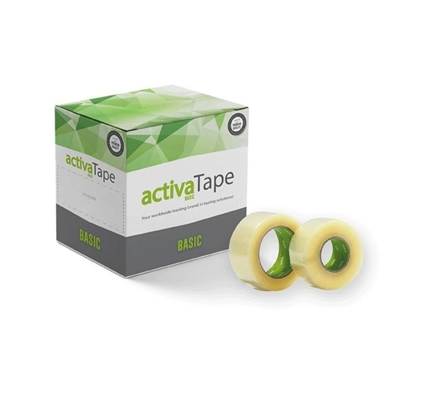 Doos met 36 rollen verpakkingstape Tape Basic - 28 my Tape