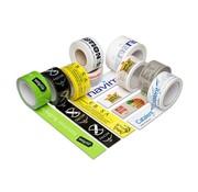 Bedrukte PVC Tape met Een Kleur bedrukt 50 mm x 66 meter