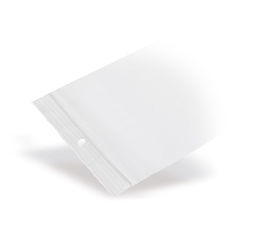 Gripzakje 80 x 120 mm transparant met druksluiting doos 1000 stuks