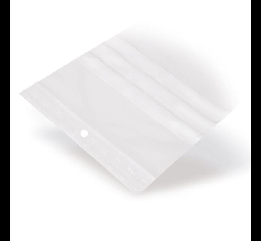 Gripzakje 40 x 60 mm met schrijfvlak en druksluiting doos 1000 stuks