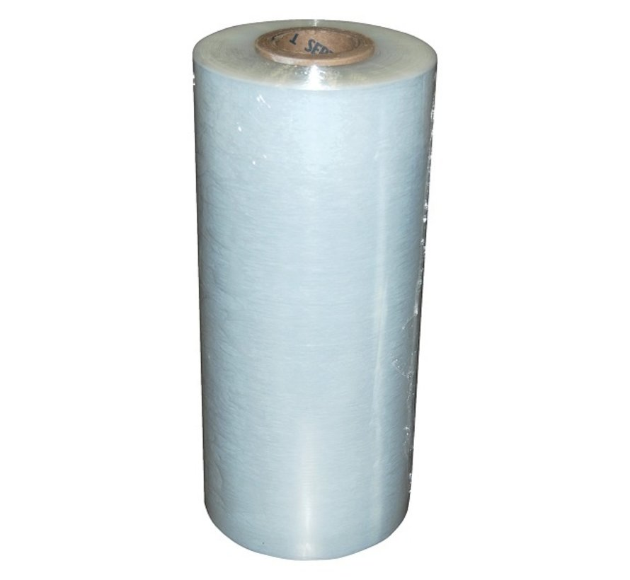 Machinewikkelfolie 150% rek 500 mm x 23 my x 1370 m transparant