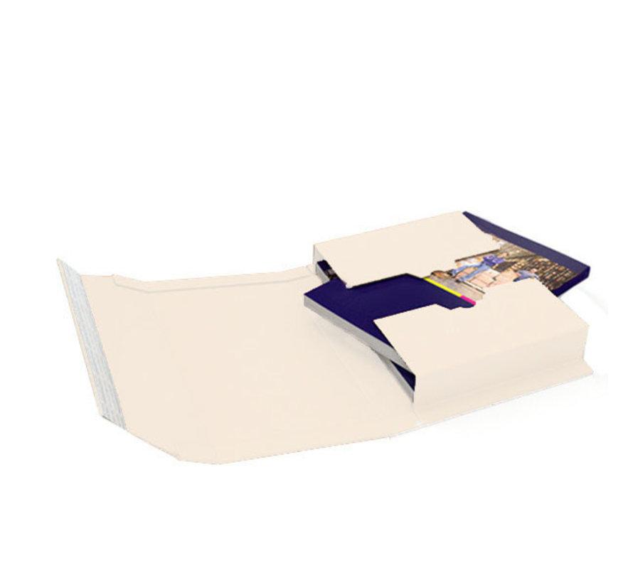 Boekverpakking 302 x 215 mm B-golf Wit